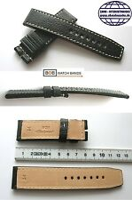 -BOB ECHTLEDERBAND DICKES MARINO EXTREME SCHWARZ 24-24 mm Kompatibel mit Panerai