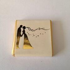 100 Milk Chocolate Wedding Favours - Gold