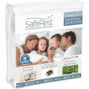 SafeRest Queen Size Classic Plus Hypoallergenic 100% Waterproof Mattress Protect