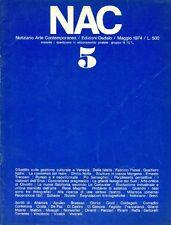 NAC. Maggio 1974. Numero 5.