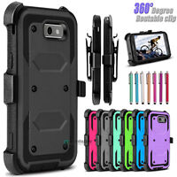 Hybrid Hard Phone Case Armor With Belt Clip Holster Kickstand Cover For Samsung