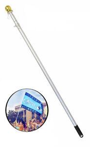 6ft Flag Pole 6' Hand Held Aluminum Flag Pole Hand Held Parade Flag Pole