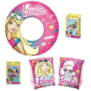 Barbie Girls Inflatable Armbands Swim Ring Arm Bands Swimming Set of 2 saving