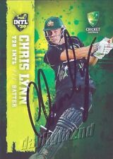 ✺Signed✺ 2017 2018 AUSTRALIAN Cricket Card CHRIS LYNN Big Bash League