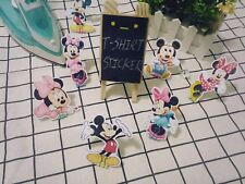 9 pcs Mickey Mouse Minnie Mouse T-shirt Heat transfer sticker Iron On decal