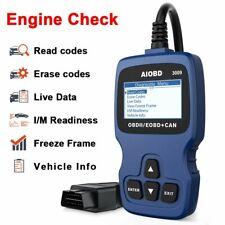 OBD II Scanner Car Engine Fault Code Reader CAN Diagnostic Scan Tool-Blue
