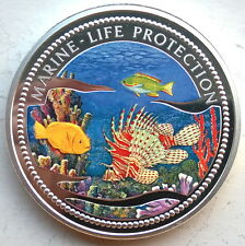 Palau 2000 Coral Fish 20 Dollars 5oz Colour Silver Coin,Proof