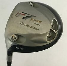 Left Handed TaylorMade r7 Quad HT 10.5* Driver M.A.S.2 Stiff Flex