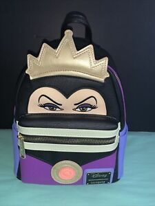 Loungefly Snow White Evil Queen Faux Leather Mini Backpack