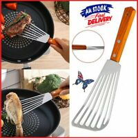 Non-slip Stainless Steel Kitchen Frying Spatula Leaky Shovel Fish Slice Cookware
