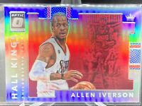 2017-18 Panini Donruss Optic 18 Allen Iverson Holo Silver Prizm~Hall Kings~76ers