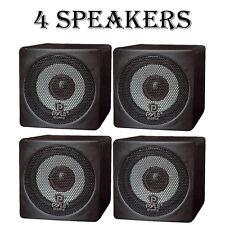 LOT OF 4 - NEW Pyle PCB3BK 100W 3'' Mini Cube Bookshelf Speakers (BLACK)