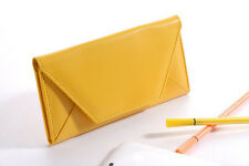 New Women Envelope Bag Clutch Handbag Soft PU Purse Covered Button Wallet US