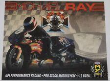 2016 Michael Ray Upi Performance Buell Xb12 Pro Stock Motorcycle Nhra postcard