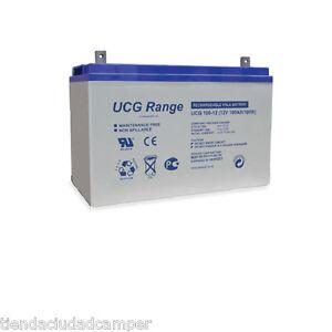Batería Gel Ultracell 100 Ah 12v Ciclo Profundo no AGM VW T4 T5 Trafic Vivaro AC