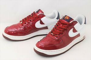 Size 10 Nike Air Force 1 Low Premium ''Lebron'' Team Red White From Japan #974