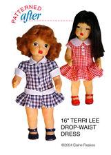 "Drop Waist Dresses Clothing Pattern For 16"" Terri Lee Doll"