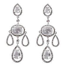 Cubic Zirconia Pear Stone Costume Earrings