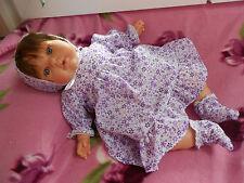 ens robe 3 pièces neuf   poupée reborn,baigneur,antonio juan 40/45 cm