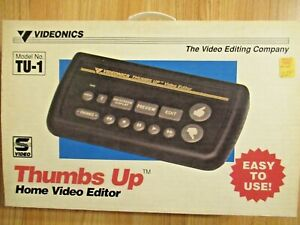 Videonics TU-1 Thumbs Up Video Editor Instructions Power cord