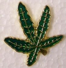 Marijuana Leaf Lapel Hat Pin Pot Cannabis Weed 420 New Collectible Hemp #A10-57