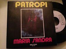 """MARIA SANDRA - SPANISH 7"""" SINGLE SPAIN PATROPI - BOSSA NOVA"""