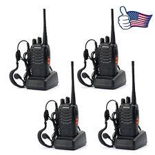 4 Pack Baofeng BF-888S UHF 400-470MHz 5W Ham Two Way Radio Flashlight