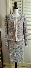 NWT J. Crew Multi Color Boucle Skirt Suit Women's Sz 14