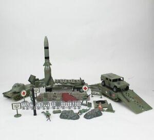 VTG Boley US Army Missile Military Toy Play Set 1998 Soldiers Rocket Bridge Tank
