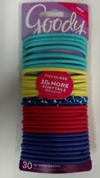 Goody Ouchless No-Metal Hair Elastics, 30 Elastics - Colors Exactly As Shown