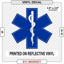 Star of Life Reflective Decal Sticker EMS SOL RN Nurse EMT Paramedic EMS - S 05