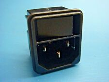 (1) SCHURTER 4302.0002 KEB1 Snap-In IEC Receptacle with ON/OFF SWITCH 10A 250VAC