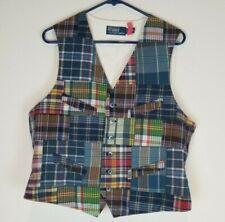 Polo Ralph Lauren Mens Suit Vest Multicolor Size Medium