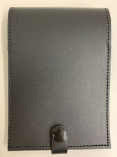 Ex Police Black Leather Folding Notebook Holder Event Doorman Security SIA