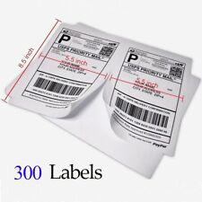 300 Blank Shipping Labels 2 Per Sheet 85 X 55 Half Sheet Self Adhesive Page