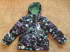 NWT Girls Black Blue Purple Zeroxposur Snowboard Hooded Coat Jacket 7/8