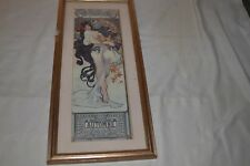 ALPHONSE MUCHA ETE IMAGE CADRE  REPRODUCTION SIGNE MADE IN SCOTLAND