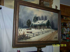 Nils Hans Christiansen Listed Artist Antique Original Oil On Canvas Landscape