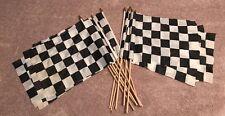 """13 x FLAG LOT 13"""" X 18.5""""  WINNER CHECKERED POLYESTER GARDEN FLAG Lot of 13"""