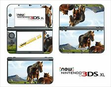 SKIN STICKER AUTOCOLLANT - NINTENDO NEW 3DS XL - REF 41 CHEVAL