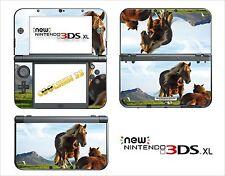 HAUT STICKER AUFKLEBER - NINTENDO NEU 3DS XL - REF 41 PFERDE-