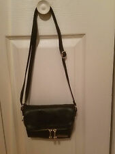 KENNETH COLE REACTION WOMENS BLACK FOLD OVER MINI CROSS-BODY BAG (NEW)