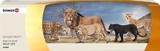 SCHLEICH 41363 Big Cats Scenery Pack 14360 14614 14373 14359 14688 Leopard Lion