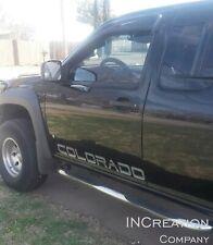 Fits Chevrolet Colorado Vinyl Decals x2 Front Door Racing Stikers Chevy 4x4