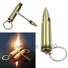 New  Portable Safety Permanent Match Keychain Lighter Stainless Steel Bullet Box