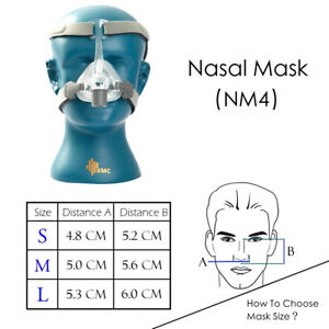 NM4 Nasal CPAP Mask Sleep Snoring Apnea Fits All CPAP Machine for ResMed,Philips
