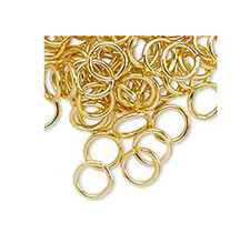 100 Gold Plated 6MM Open Jump Rings 18 Gauge Jumprings Beading Supply