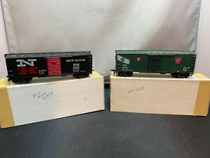 Mantua New Haven 40' Boxcar 32957 & PRR 46100 Boxcar Pennsylvania HO Scale Lot