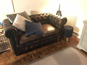 2 Seater Chesterfield sofa - Used