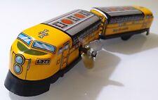 Vintage RIO GRANDE TRAIN Windup Tin Toy & Plastic Old Sanko 70´s? JAPAN RARE